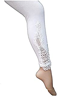 PREET GEHNA Designer peacock bottom patch laca ankle length leggings for women in free size,Good Quality,Original Product