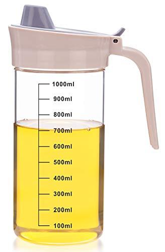 Signoraware Glass Oil dispenser and Pourer Borosilicate Glass, 1000 ml, Clear