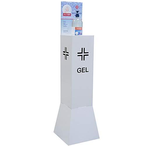 Bakaji Colonnina Totem Porta Dispenser Gel Piantana Dimensione 90 x 20 cm per Negozio Bar Ristoranti Attività Commerciali