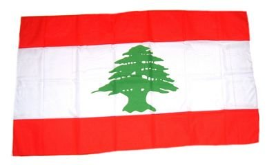 Fahne Stockflagge Libanon NEU 30 x 45 cm Flaggen