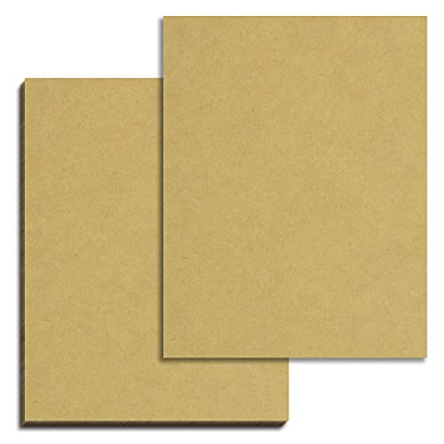 50 Sheets, Brown Kraft Cardstock, 200 GSM (75 lb. Cover), 8.5 x 11 inches