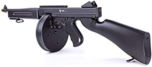 GameFace ASRGTH GFSMG Electric Full/Semi-Auto Airsoft Submachine Gun With Battery And Charger, Black