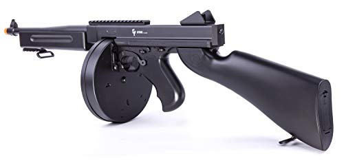 GAME FACE ASRGTH Electric Full/Semi-Auto Airsoft Submachine Gun With Battery And Charger, Black