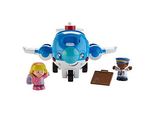 Fisher-Price Little People Avión viaja conmigo, juguetes bebés 1 año (Mattel FKX07)