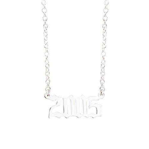 Yowablo Halskette 1990-2019 Pendan Geburtstagsgeschenk Personalisierte Kragen Jahre Nummer (3F)