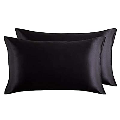 Bedsure Satin Pillowcases for Hair and Skin, Set of 2 Pillowcase from Bedshe