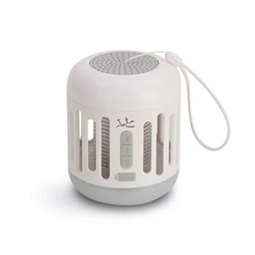 Mostrap MIB7 Atrapa Mosquitos, lámpara y altavaoz Bluetooth, Blanco