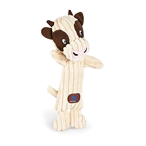 Charming Pet Tennis Heads Cow Plush Squeaky Dog Toy