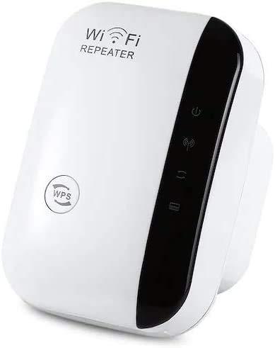 Repetidor WiFi , 300 Mbps Extensor de Red WiFi alcance inalámbrico WiFi Signal Booster 2.4 GHz con antena integrada/puerto Ethernet/punto de acceso/WPS 802.11n/b/g