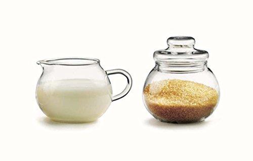 Azucarero y jarrita para leche Set lechera Azucarero Azucarero dispensador de cristal