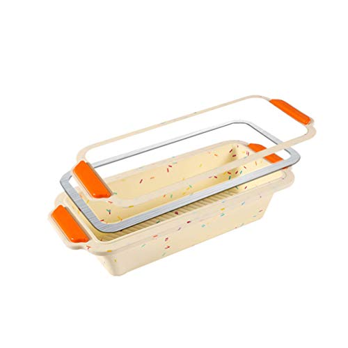 FRCOLOR Silicone Bread and Loaf Pans Non- Stick Silicone Baking Mold for Homemade Cakes Breads Meatloaf and Quiche