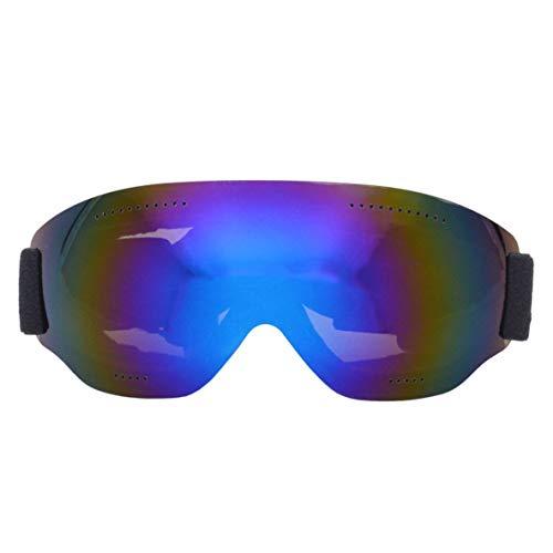 Gafas de esquí universales de una sola capa, grandes esféricas, para montañismo, resistente al viento, para adultos y niños (azul)
