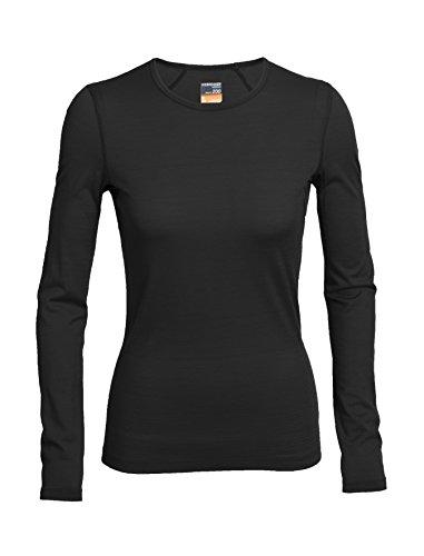 Icebreaker Damen Funktionsunterhemd Oasis Langarm Crewe, black, L, 100514001