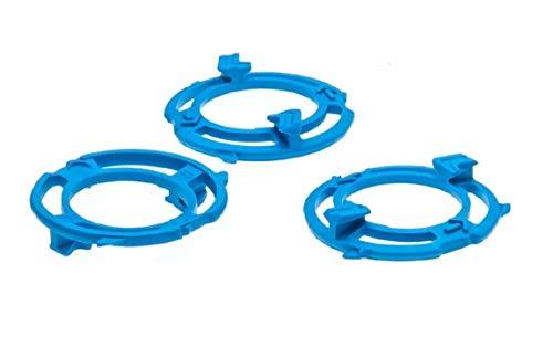 Anillo de retención (placa de retención, soporte para dispositivo de afeitado) para cabezales de afeitado Philips modelo / tipo SH50 (color azul)