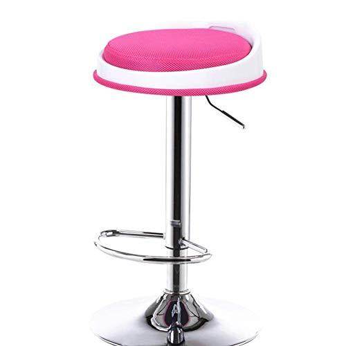 Sconosciuto Sgabelli da Bar sgabelli Possono Essere montati Litro Rotante Sedie da Bar Drop Sedia da Reception Sgabello Alto (Colore: Rosso Rosa Dimensioni: 63-83 cm)
