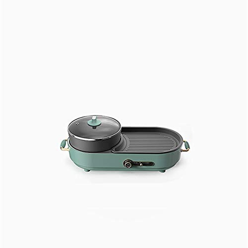 N / A Multifunktions-Hot Pot, rauchfreier All-in-One-Grill, Haushaltsbackblech, Dual-Purpose-Topfgrillmaschine, abnehmbare Doppelplatte und