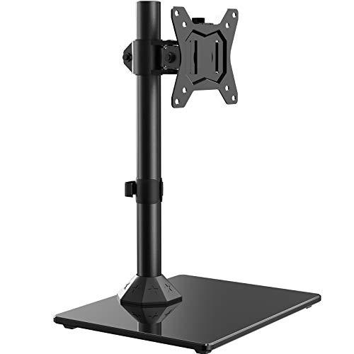 """ErGear Supporto per Monitor per Schermo da 13""""- 32"""" Full Motion con Braccio Regolabile in Altezza Braccio Monitor PC Inclinazione ±45° Girevole a ± 45 ° Rotazione 360° VESA 75/100mm Peso Max 10 kg"""