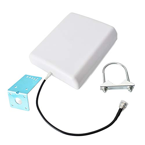 HYS Indoor/Outdoor Wall Mount Panel Directional Antenna UHF 400-470Mhz Antenna W/36cm(1.1ft) RG58 Cable F-Female Connectors for Mobile Signal Repeater/FM Transceiver