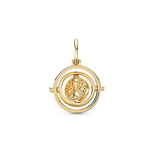 Collar Joyas Spinning Time 925 Cuentas de plata esterlina Colgantes Charms Gold TV Movies Show Original Design Pulseras