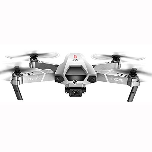 NONGLAN Drone 4k Dual Fotocamera Professionale Aerial Airless Photography Infrarossi Ostacolo Evitare Quadcopter Rc Elicottero Bambino Giocattolo(Color:Bianco)