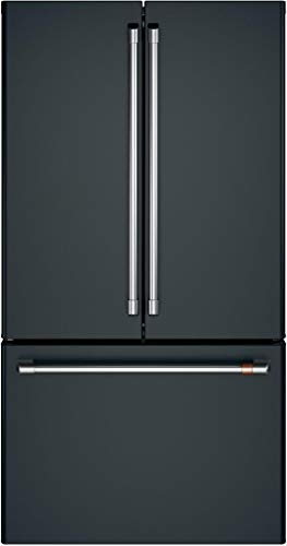 Cafe 23.1 Cu. Ft. Matte Black And Stainless Steel Counter-Depth French Door Refrigerator