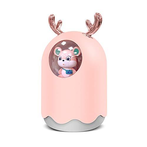 Humidificador de aire para bebé, portátil, humidificador de aire para casa, USB, humidificador de aire para habitación, silencioso, para oficina, apagado automático (300 ml), sin batería