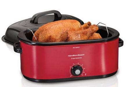 Hamilton Beach 28 lb Turkey Roaster Oven red