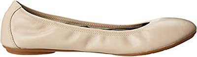 Hush Puppies Women's Chaste Ballet Flat, Nude Leather, 8.5 Wide US