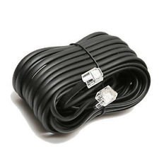 Permo 50 Feet Black Telephone Extension Cord Cable Line Wire