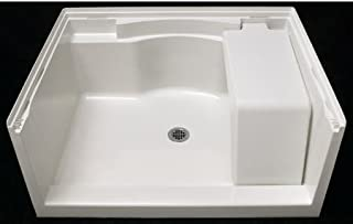 Sterling 72281100-96 Accord Vikrell 48-In X 36-In Shower Base with Center Drain, Biscuit