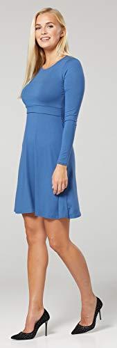 Zeta Ville – Stillen A-Linie Kleid Schwangere Rundhalsausschnitt – Damen – 128c (Blau Jeans) - 5