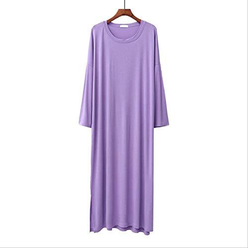 XFLOWR Lente Vrouwen Lange Lengte Volledige Mouw Nachtkleding Dames Ronde hals Jurk Eenvoudige Stijl Femme Grote Maat Losse Vrije tijd Draag Huiskleding