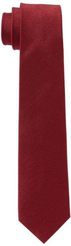 Seidensticker Krawatte 7cm breit einfarbig unifarben modern, Rot (48 uni bordeaux), One Size
