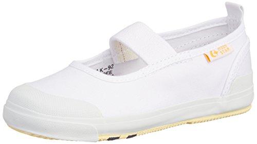 キャロット 上履き バレー 4大機能 足育 足に優しい ゆったり 抗菌防臭 CR ST11 キッズ ホワイト 16.5 cm 2E