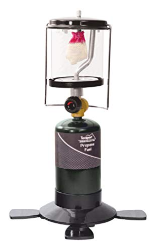 Texsport Single Mantle Propane Lantern for Outdoor Use Green
