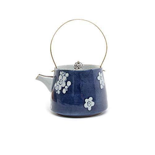 YWSZJ Tetera Azul y Blanca Pintada a Mano de Porcelana Antigua Diseño Azul de Esmalte cocido Flor de la Tetera de cerámica del Filtro de Kung Fu de la Burbuja de la Tetera