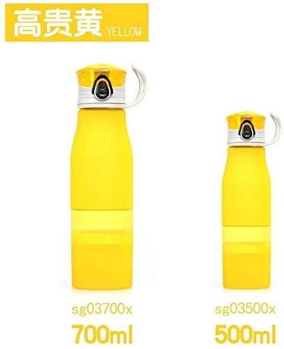 GXP Outdoor Sports Lemon Cup New Type Lockable Bouncing Cover Large Capacity Portable Kettle Korean Student Plastic Cup (Color : Orange, Size : 700ml)