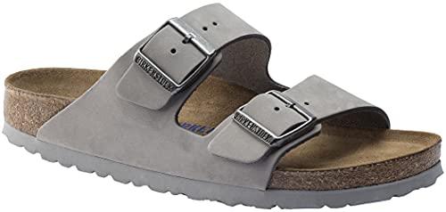 Birkenstock Arizona Sandals Soft Footbed Dove Gray Nubuck R 39 R EU