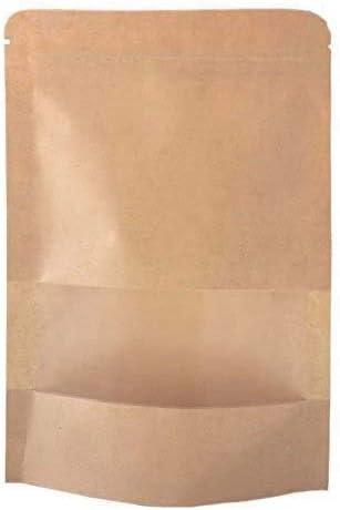 1325 opinioni per SumDirect 50 pezzi, sacchetto di kraft sigillabile e finestra opaca (9x14cm)