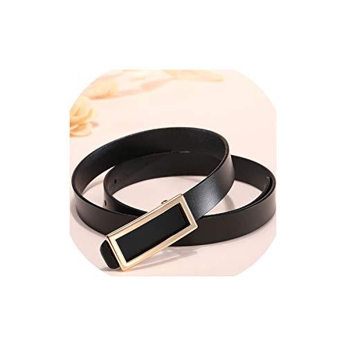 Gouden gesp riem taille vrouwelijke dunne lederen riemen voor vrouwen jurk riem Lb016-Gold-black-115CM