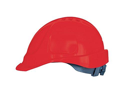 Casco de protección con cinta de sujeción, tamaño ajustable, EN397, color rojo ⭐