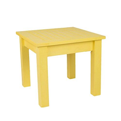 SCHWEEN24 - Mesa auxiliar para silla Adirondack (imitación de madera, madera sintética), amarillo