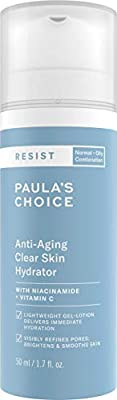 Paula's Choice Resist Anti Aging Clear Skin Moisturiser - Hydrating Lightweight Night Cream - Reduces Breakouts & Fine Lines - with Niacinamide & Vitamin C - Combination to Oily Skin - 50 ml from