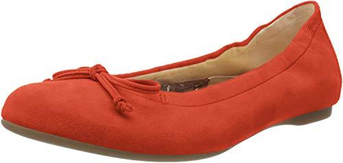 Gabor Shoes Damen Casual Geschlossene Ballerinas, Rot (Koralle 33), 43 EU