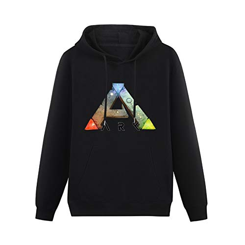 Mens Ano Survival Evolved The Ark Survival Evolution Pure Cotton 005 Video Games Hoodies Long Sleeve Pullover Loose Hoody Sweatershirt Black XXL