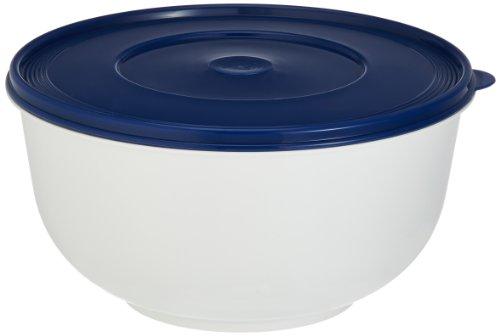 Emsa 2143501200 Hefeteigschüssel mit Deckel, 5 Liter, Weiß/Blau, Superline