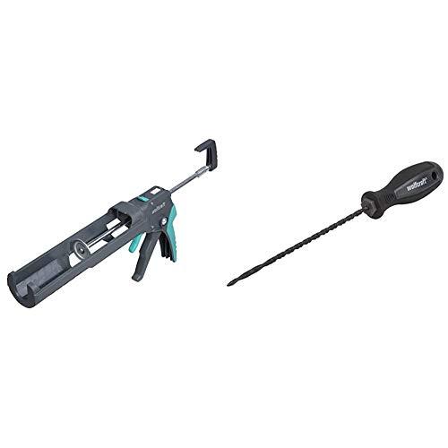 Wolfcraft 4358000Pistola selladora MG 550, 220 kg presión + 4031000 (L) sierra perforadora para serrar ranuras y formas libres en planchas PACK 1