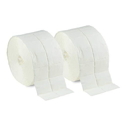 N & BF zelletten tupfer Lot de 10 (20 rouleaux à 500 pièces) – Cellulose tupfer – Patchs cellulose Pads/swaps 12 Couches non stériles pour Cleaner Rem