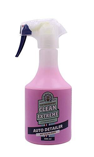 CLEANEXTREME Auto Detailer mit Kalklöser 500 ml - Pflegemittel mit Kalkflecken Entferner. Waschen ohne Wasser. Autopflege, Kalkentfernung, Versiegelung - Autolack + Autofolie