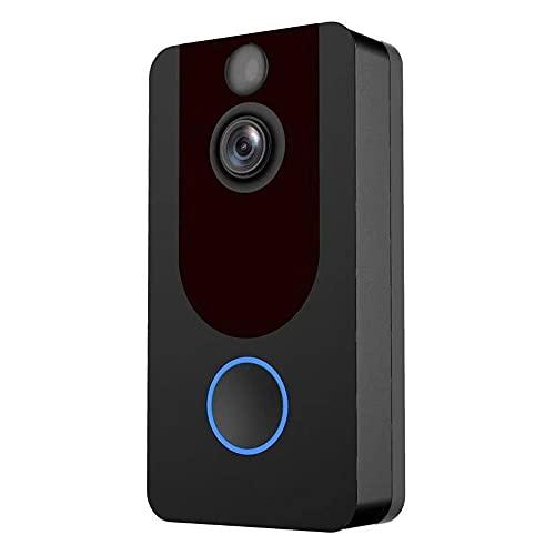 OUYA Cámara De Timbre WiFi De 2.4Ghz para Hogar Inteligente para Exteriores, Gran Angular De 140 °, Detección De Movimiento PIR, Fácil Instalación, Uso para Sistemas De Seguridad para Hogar